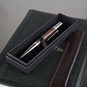 Ручки ручной работы. Ярмарка Мастеров - ручная работа Шариковая ручка Gallant (палисандр сантос) в кожаном футляре. Handmade.