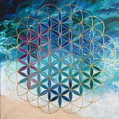 Фен-шуй и эзотерика handmade. Livemaster - original item The picture of the FLOWER of LIFE, 50 x 50. Handmade.