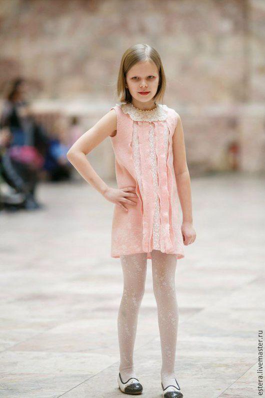 """Для подростков, ручной работы. Ярмарка Мастеров - ручная работа. Купить Платье """"Маленькая фея"""" валяное для девочки. Handmade."""