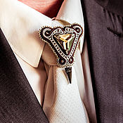 Украшения handmade. Livemaster - original item The brooch on the tie of David, the gift of a man, for men, men`s jewelry. Handmade.