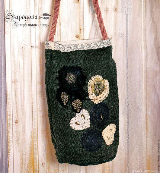 Алина Сапогова. Авторская бохо сумка `Dark wood ` сумка торба, эко сумка, летняя сумка, сумка с кружевом, пляжная бохо сумка, эксклюзивная сумка ручной работы.  Фотограф Александр Сапогов.