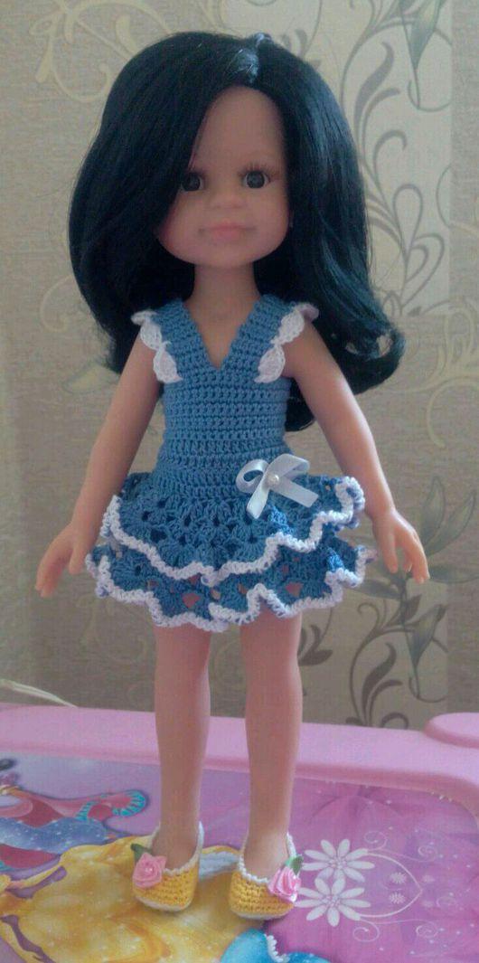 Одежда для кукол ручной работы. Ярмарка Мастеров - ручная работа. Купить Сарафан для куклы Паола Рейна 32-33 см. Handmade.