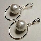 Украшения handmade. Livemaster - original item Hoop earrings: Saturn. Handmade.