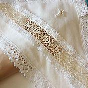 Пеленка для крещения ручной работы. Ярмарка Мастеров - ручная работа Крестильная пеленка с капюшоном крыжма. Handmade.