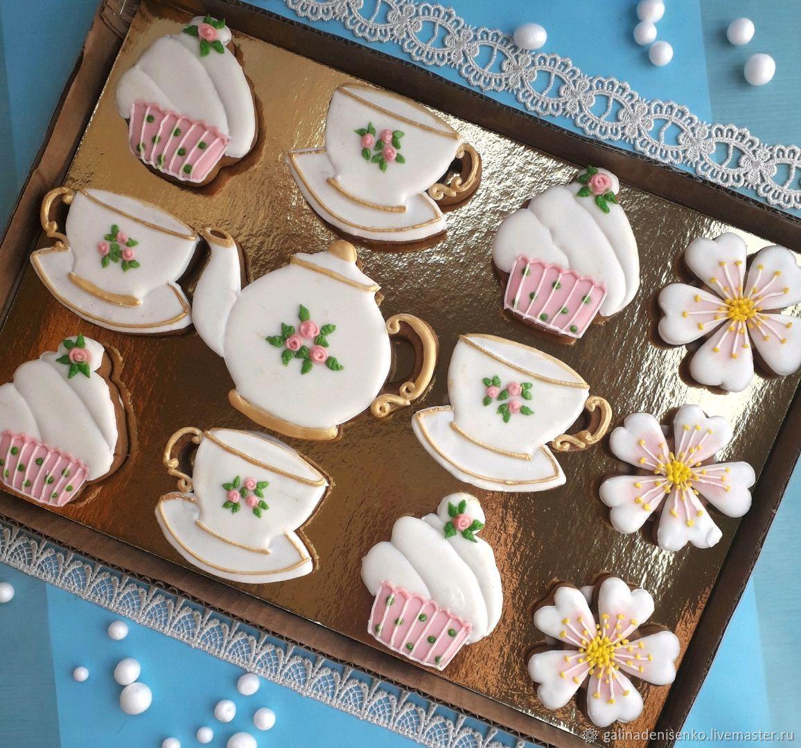 Set of gingerbread Tea set. Gingerbread Birthday, Gingerbread Cookies Set, Rostov-on-Don,  Фото №1