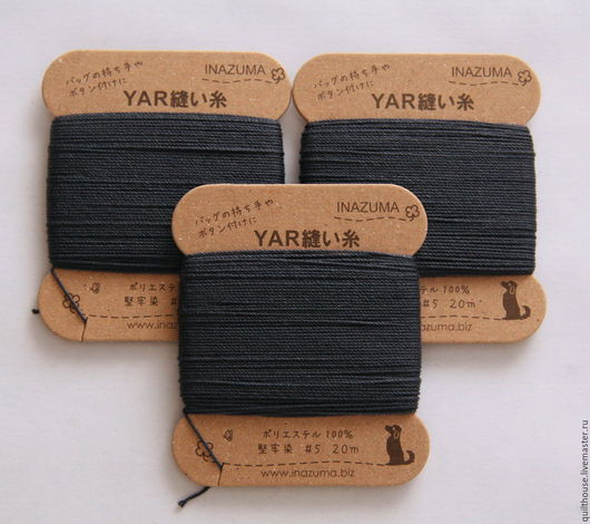 Другие виды рукоделия ручной работы. Ярмарка Мастеров - ручная работа. Купить №41, Суперпрочные нитки. Handmade. Тёмно-синий