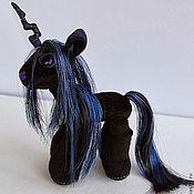 Куклы и игрушки ручной работы. Ярмарка Мастеров - ручная работа Авторская пони Единорог - Принцесса Ночи. Handmade.