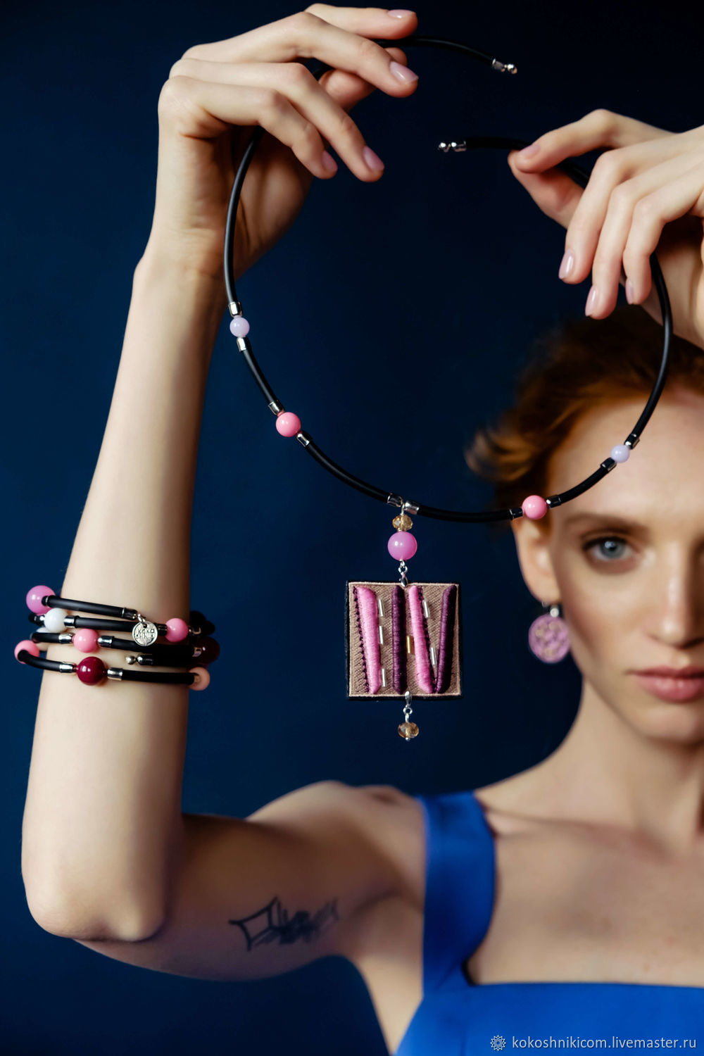 Necklace Geometry.pink leopard 2-sided, Pendants, Moscow,  Фото №1