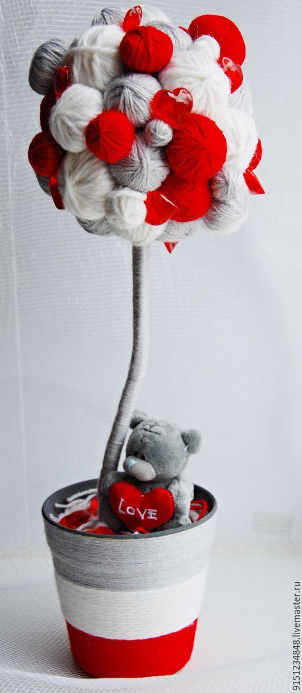 Топиарии ручной работы. Ярмарка Мастеров - ручная работа. Купить Me to you. Handmade. Комбинированный, топиарий дерево счастья