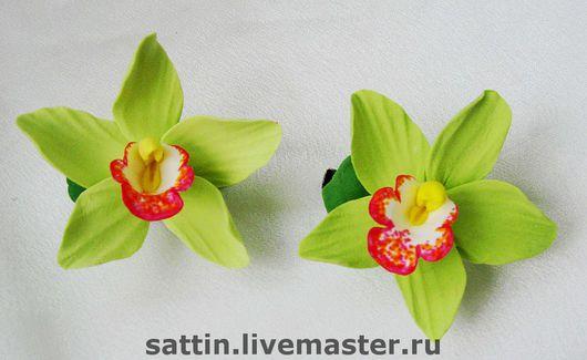 Заколки ручной работы. Ярмарка Мастеров - ручная работа. Купить Орхидеи. Handmade. Заколка с орхидеей