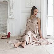 Одежда ручной работы. Ярмарка Мастеров - ручная работа шелковое платье в пол. Handmade.