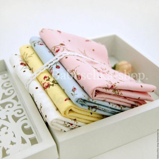"""Куклы и игрушки ручной работы. Ярмарка Мастеров - ручная работа. Купить Ткань хлопок """"Розовый бутон"""". Handmade. Ткань для творчества"""