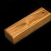 Сувениры и подарки handmade. Livemaster - original item Pencil case to a knife, made of solid oak.Colorless oil. Handmade.