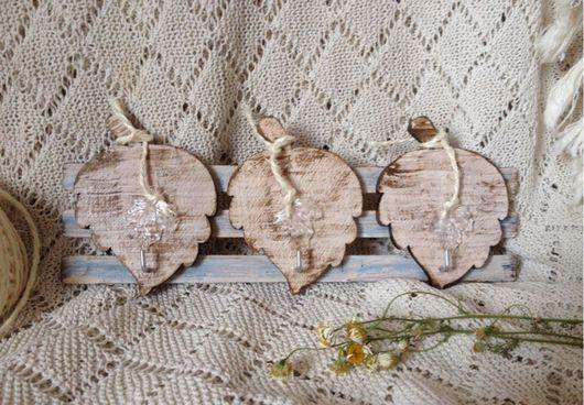 """Прихожая ручной работы. Ярмарка Мастеров - ручная работа. Купить Ключница""""Осенний вальс"""". Handmade. Ключница, листик, шебби-шик, дерево"""