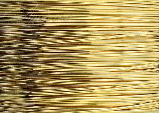 Проволока золотая Gold Filled мягкая 0.41мм Beadsmith (США) 0.5м