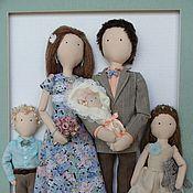 Куклы и игрушки ручной работы. Ярмарка Мастеров - ручная работа Семейный портрет из текстильных кукол. Handmade.