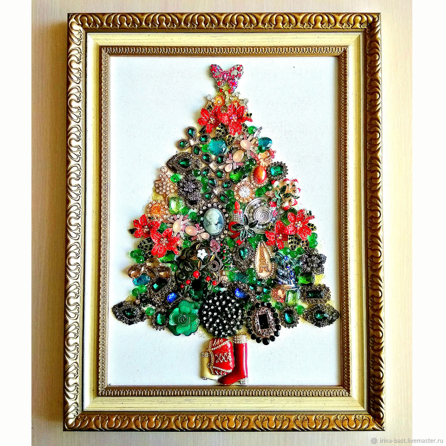 Jewelry Christmas tree. New year's gift to a girl, friend, Pictures, St. Petersburg,  Фото №1