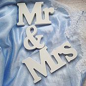 Свадебный салон ручной работы. Ярмарка Мастеров - ручная работа Mr & Mrs Wed - аксессуары для свадебного декора и фотосессии. Handmade.