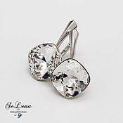 Украшения handmade. Livemaster - original item Earrings with Swarovski crystals Swarovski_svarovski earrings silver. Handmade.
