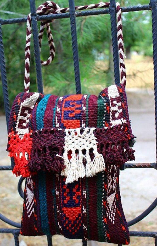 Женские сумки ручной работы. Ярмарка Мастеров - ручная работа. Купить Узбекская этно-сумка через плечо из верблюжьей шерсти. Handmade.