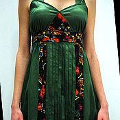 Одежда ручной работы. Ярмарка Мастеров - ручная работа Зеленый сарафан. Handmade.