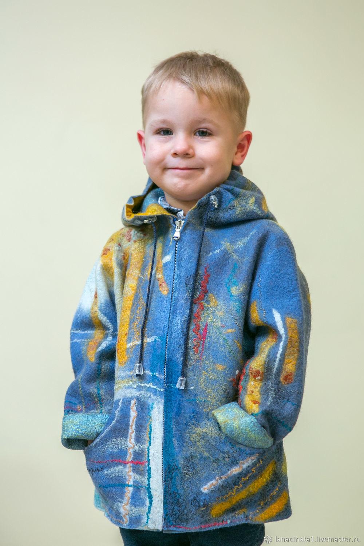 """Курточка детская """"Теплое солнышко"""" , войлок, валяние.Ручная работа, Одежда для мальчиков, Винница, Фото №1"""
