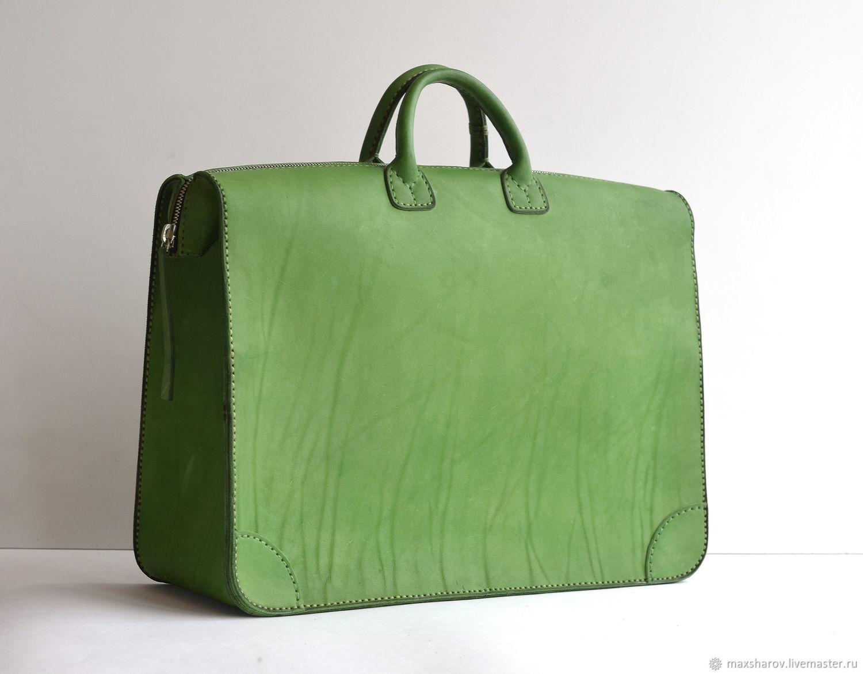 Leather handbag, bag-case art S3 Titan, Valise, Moscow,  Фото №1