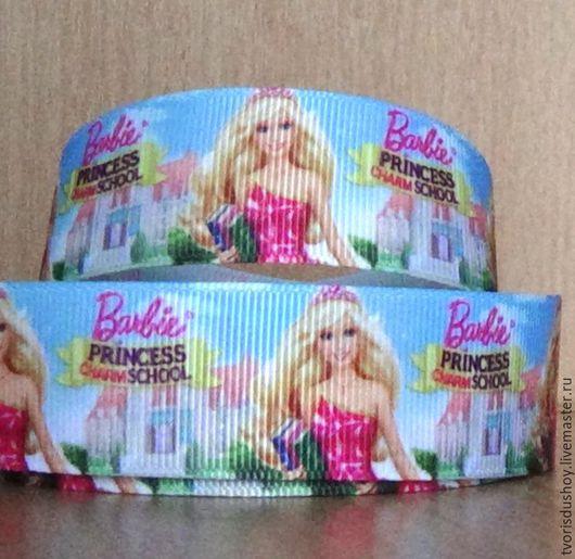 """Другие виды рукоделия ручной работы. Ярмарка Мастеров - ручная работа. Купить Репсовая лента """"Barbie"""". Handmade. Репсовая лента"""