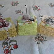 """Косметика ручной работы. Ярмарка Мастеров - ручная работа """"Вкусное"""" мыло """"Торт Наполеон"""". Handmade."""