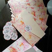Открытки ручной работы. Ярмарка Мастеров - ручная работа Пригласительные с  конвертом на свадьбу. Handmade.