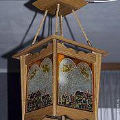 """Для дома и интерьера ручной работы. Ярмарка Мастеров - ручная работа """"Ангелы над городом"""" светильник подвесной. Handmade."""