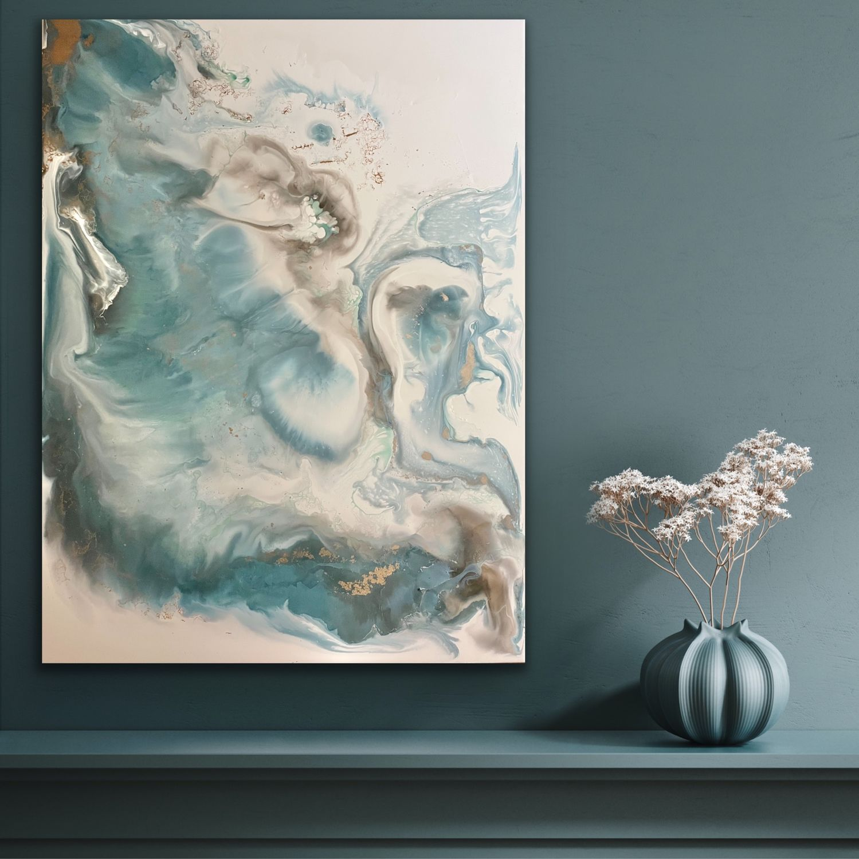 Фактурная картина 60х80, выполненная в технике жидкий акрил, Картины, Москва,  Фото №1