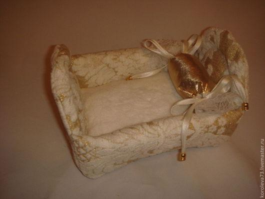 Для других животных, ручной работы. Ярмарка Мастеров - ручная работа. Купить Кроватка для хомячка. Handmade. Лежак, Мебельная ткань