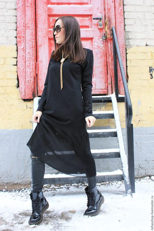 R00049 платье нарядное макси платье вечернее стильное платье на новый год платье в пол длинное платье дизайнерское платье черное платье плиссировка элегантное платье прямое платье