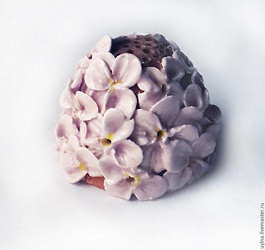 """Миниатюрные модели ручной работы. Ярмарка Мастеров - ручная работа. Купить Наперсток """"Сирень"""". Handmade. Бледно-сиреневый, цветы"""