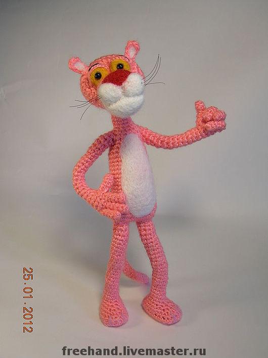 Сказочные персонажи ручной работы. Ярмарка Мастеров - ручная работа. Купить Розовая пантера. Handmade. Розовая пантера, наполнитель для игрушек