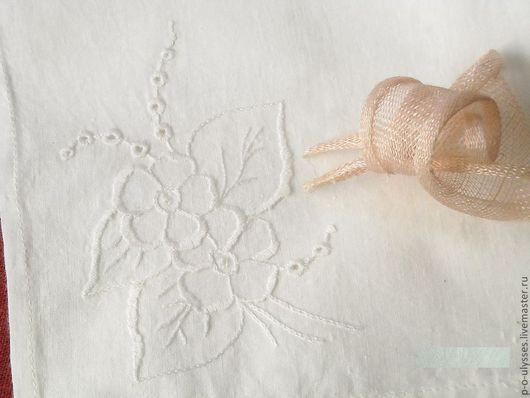 Носовые платочки ручной работы. Ярмарка Мастеров - ручная работа. Купить носовые платки. Handmade. Носовой платок, платок хлопковый