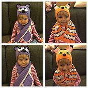 Работы для детей, handmade. Livemaster - original item Beanie knitted crochet - the World around us. Handmade.
