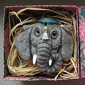 """Куклы и игрушки ручной работы. Ярмарка Мастеров - ручная работа Заколка для волос """"Слоник индийский"""". Handmade."""