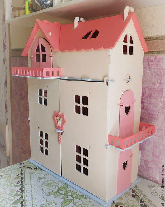 Кукольный дом ручной работы. Ярмарка Мастеров - ручная работа. Купить кукольный дом Дарина-2. Handmade. Кукольный дом