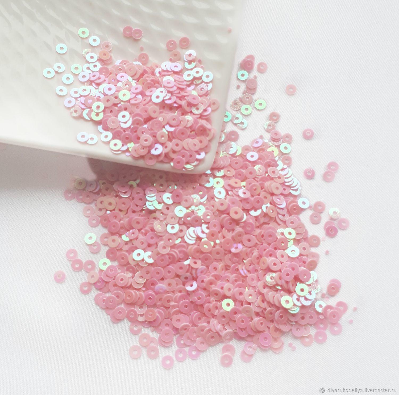 Пайетки круглые. Розовый АВ, Пайетки, Москва,  Фото №1