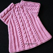 Работы для детей, handmade. Livemaster - original item tunic sundress vest for girls I - Princess auto. work. Handmade.