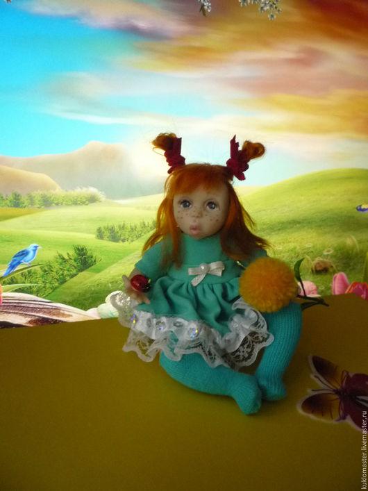 Коллекционные куклы ручной работы. Ярмарка Мастеров - ручная работа. Купить Девочка с божьей коровкой.Авторская кукла. Handmade. Кукла