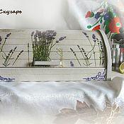 """Для дома и интерьера handmade. Livemaster - original item Хлебница """"Лавандовый цвет"""". Handmade."""