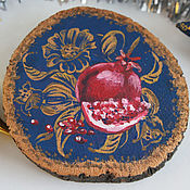 Картины и панно handmade. Livemaster - original item Garnet. Souvenir. The painting on the saw cut.. Handmade.