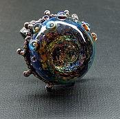 Украшения handmade. Livemaster - original item Ring the birth of the universe lampwork. Handmade.