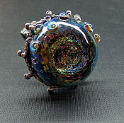 Rings handmade. Livemaster - original item Ring the birth of the universe lampwork. Handmade.