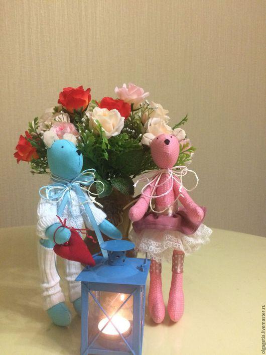 Куклы Тильды ручной работы. Ярмарка Мастеров - ручная работа. Купить Мишки очаровашки в стиле Тильда с сердечком. Handmade.