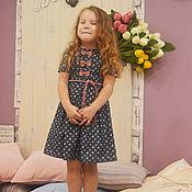 Работы для детей, ручной работы. Ярмарка Мастеров - ручная работа Джинсовое платье. Handmade.