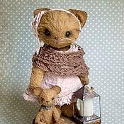 """Куклы и игрушки ручной работы. Ярмарка Мастеров - ручная работа Кошка тедди. 11.5 см  """" Не бойся!"""". Handmade."""